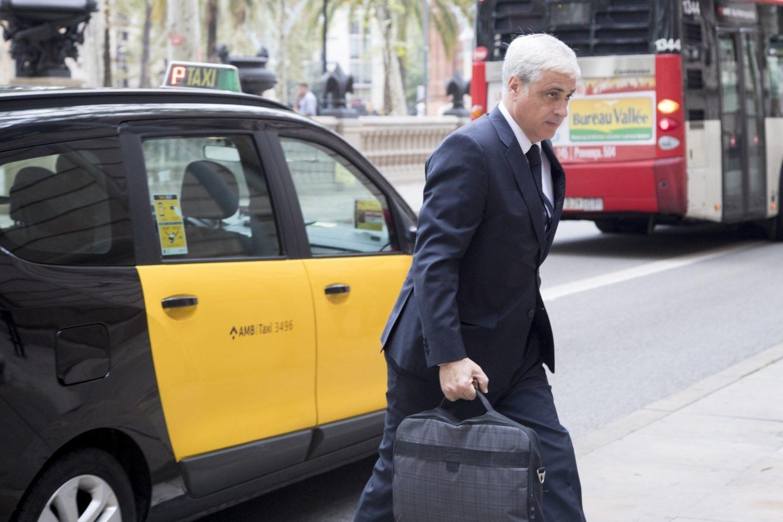 El exconseller de Justicia Germà Gordó, a su llegada a la Audiencia de Barcelona.