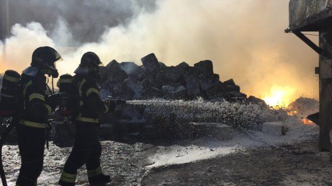 Incendio en Fuenlabrada.
