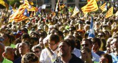Referéndum 1-O: Junqueras, en la manifestación de la Diada.