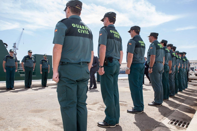 Guardias civiles en formación.