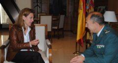 Fernando Santafé, en un encuentro oficial durante su etapa como máximo responsable de la Guardia Civil en la Comunidad Valenciana.