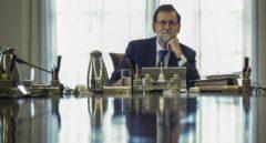 El presidente del Gobierno. Mariano Rajoy, en el Palacio de la Moncloa.