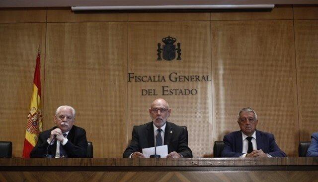 El fiscal general del Estado, José Manuel Maza, en su comparecencia de este jueves.