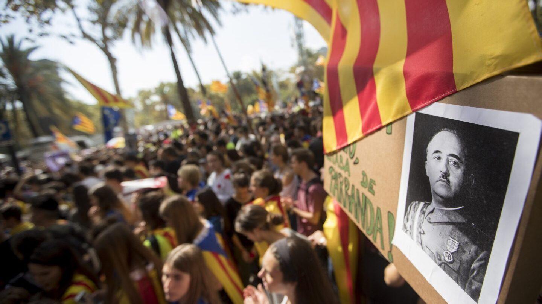 Referéndum 1-O: Manifestación de independentistas en Barcelona.