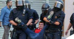 Referéndum 1-O: detenido un manifestante de la CUP en la sede de Terrasa de Unipost.