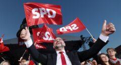 Martin Schulz, ante sus seguidores en un mitin en Berlín.