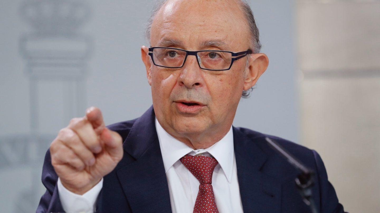 Referéndum 1-O: Cristóbal Montoro, en el Consejo de Ministros.