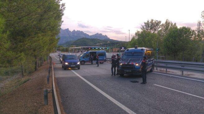 Control de carretera de los Mossos.