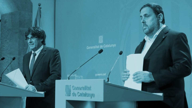 Puigdemont y Junqueras.