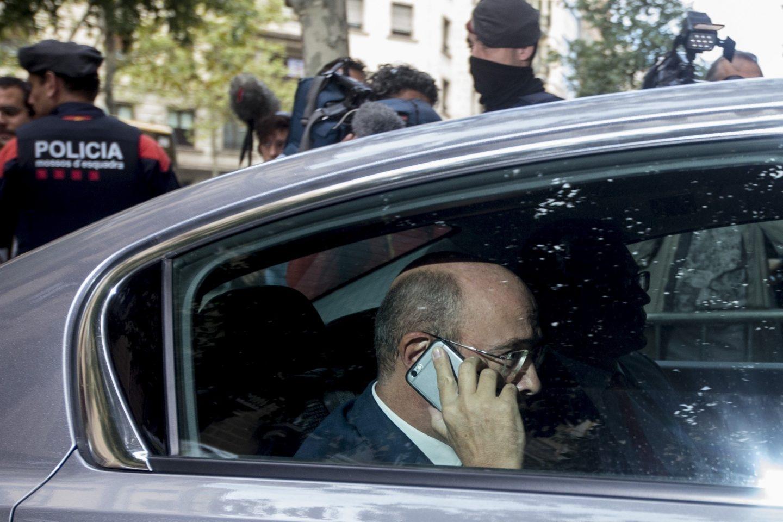El coronel de la Guardia Civil Diego Pérez de los Cobos, en Barcelona.