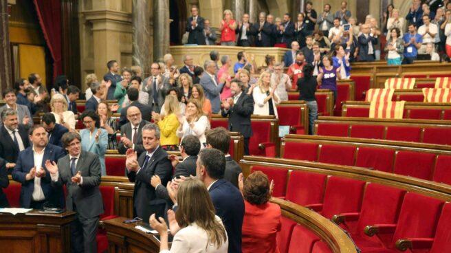 El Parlamento de Cataluña, durante la aprobación de la Ley del Referéndum.