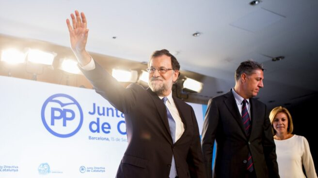 Mariano Rajoy, en la Junta Directiva del PP catalán.