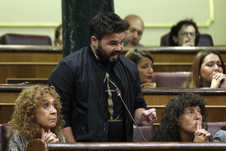 Referéndum 1-O: Gabriel Rufián en el Congreso.