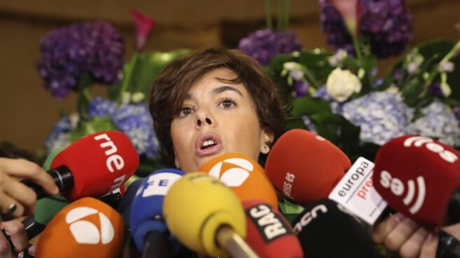 La vicepresidenta del Gobierno, Soraya Sáenz de Santamaría.