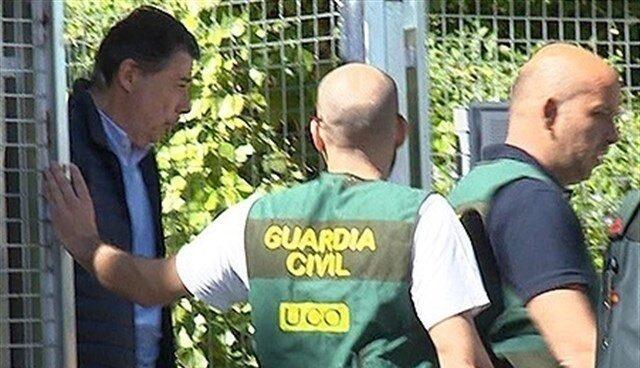 El ex presidente de la Comunidad de Madrid Ignacio González, el día que fue detenido por la UCO.