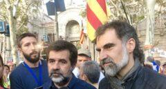 Jordi Sànchez y Jordi Cuixart, presidentes de la ANC y Òmnium Cultural, respectivamente.
