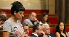 Anna Gabriel, en el Parlament.