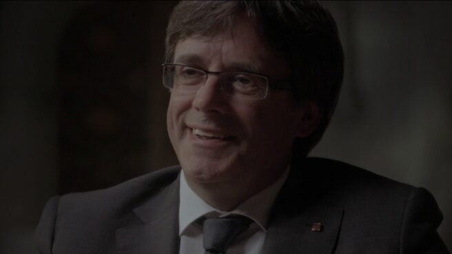 El president Carles Puigdemont en su entrevista en el programa Salvados.