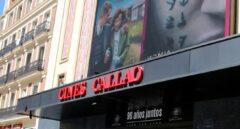 Fachada de los cines Callao en Madrid
