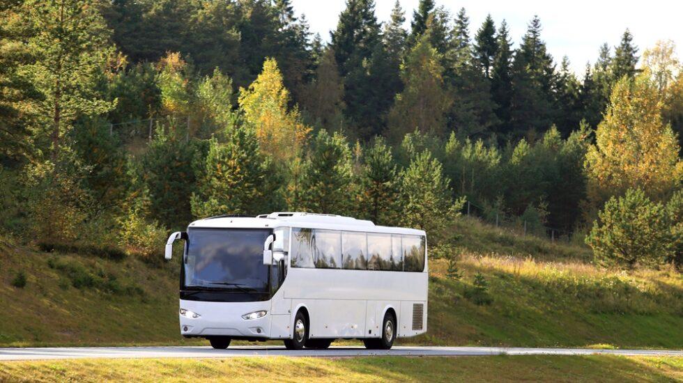 Un autobús interurbano en España.