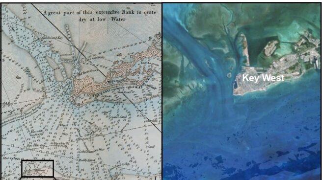 Antes y ahora en los Cayos de Florida.