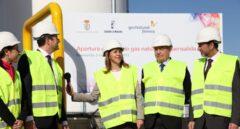 Dolores de Cospedal inaugura en febrero de 2013 el suministro de gas natural a Fuensalida (Toledo).