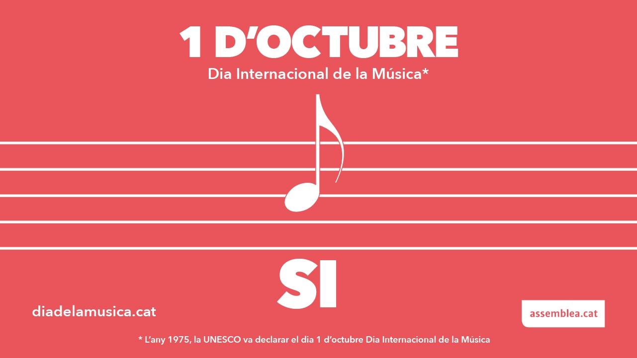 Cartel de la ANC camuflando el referéndum como 'Día Internacional de la Música'