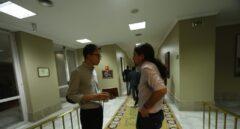 Iñigo Errejón y Pablo Iglesias el pasado julio en los pasillos del Congreso de los Diputados.