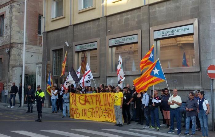 Manifestación de apoyo a Cataluña en Cerdeña