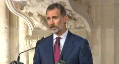 El Rey Felipe, en un momento de su discurso.