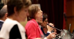 La presidenta del Parlament, Carme Forcadell, durante el pleno sobre la Ley del Referéndum.