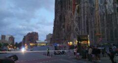 La Sagrada Familia acordonada dentro de un operativo antiterrorista