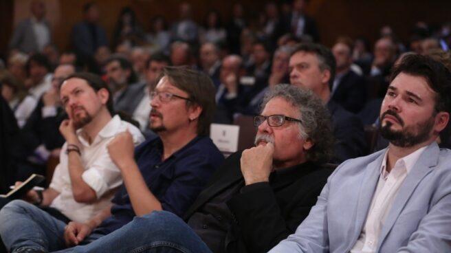 Iglesias, Doménech, Tardá y Gabriel Rufián.
