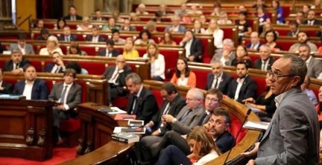 Imagen del Parlament de Cataluña durante un debate de la pasada legislatura.