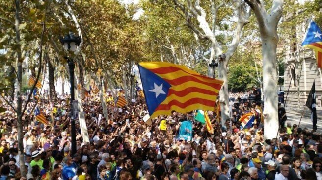 Concentración en apoyo a la independencia de Cataluña.