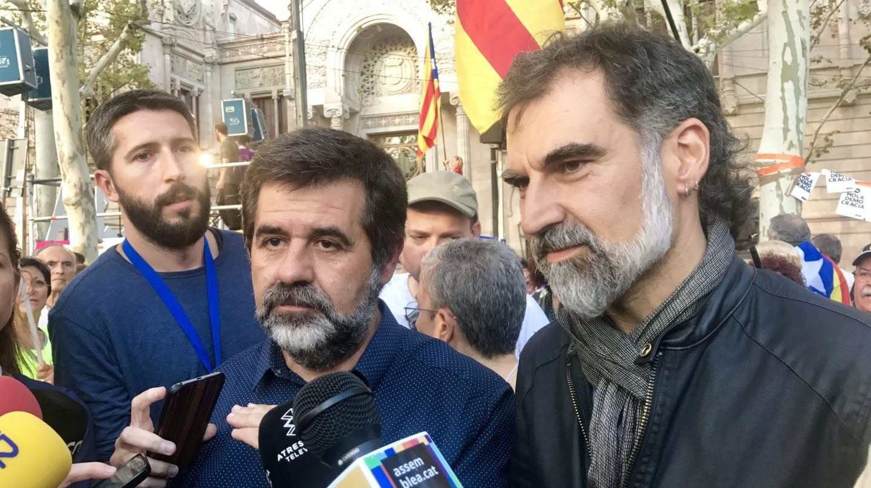 Jordi Sánchez y Jordi Cuixart.