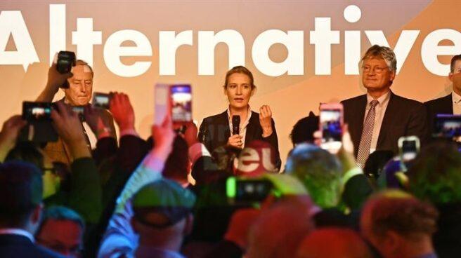 Los dos líderes de la ultraderecha alemana celebran su ingreso en el Parlamento federal.