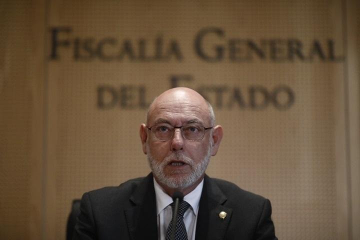 El fiscal general del Estado, José Manuel Maza, en una reciente comparecencia pública.
