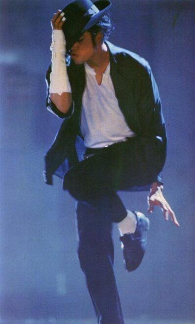 Michael Jackson durante uno de sus conciertos.