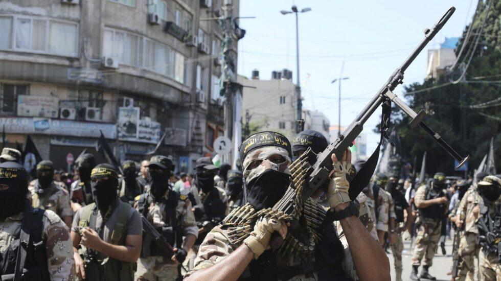 Militantes de la Yihad islámica palestina