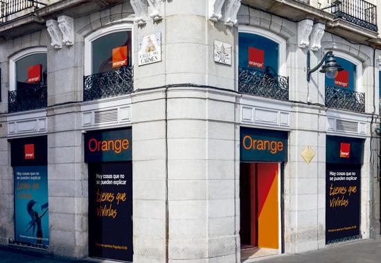 La flagship de Orange en la Puerta del Sol de Madrid.