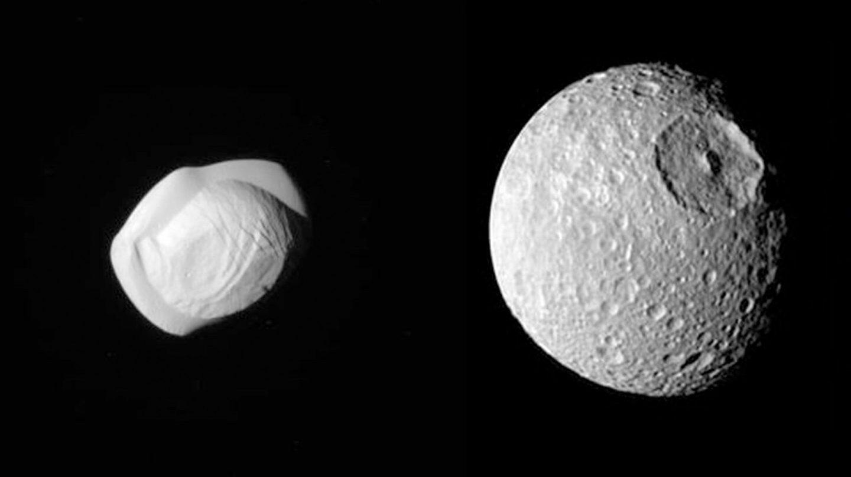Pan y Mimas, Saturno