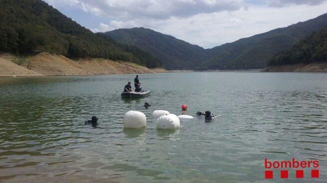 Búsqueda de dos jóvenes desaparecidos a finales de agosto en el Pantano de Susqueda (Girona).