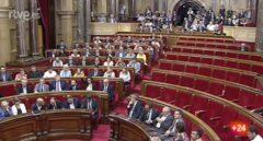 El Parlament en el momento de la votación de la Ley de Transitoriedad.