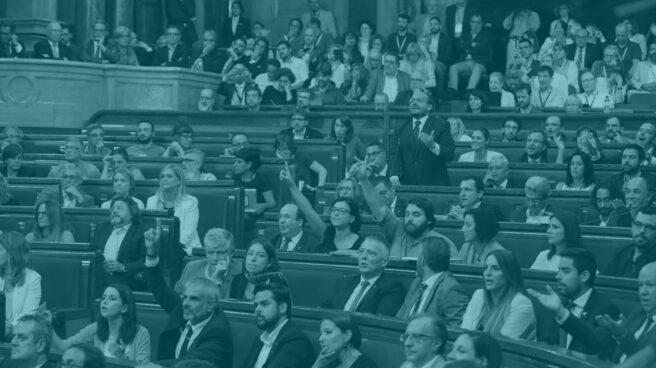 Un momento del pleno del Parlament.