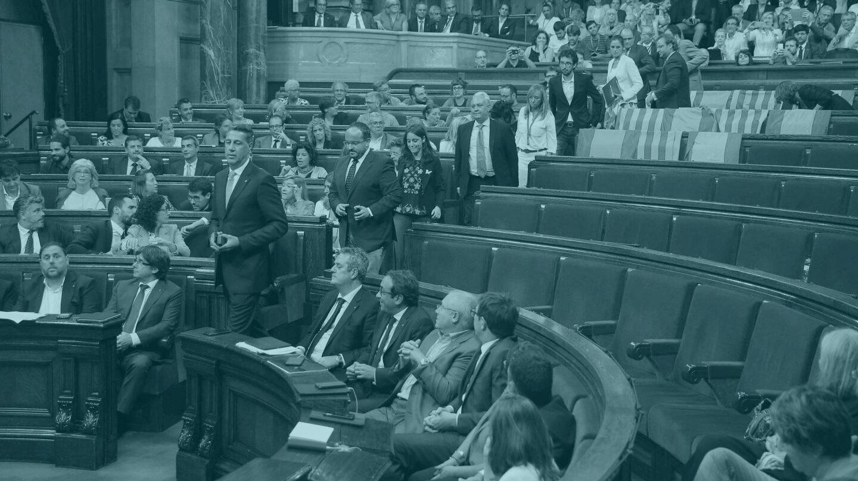 Imagen del Parlament de Cataluña durante la votación de la ley de referéndum.