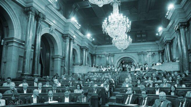 Pleno del Parlament durante el debate de la Ley de Referéndum.