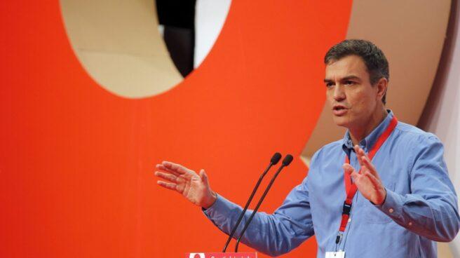 Pedro Sánchez, en su intervención en el VIII Congreso del PSOE-PSE