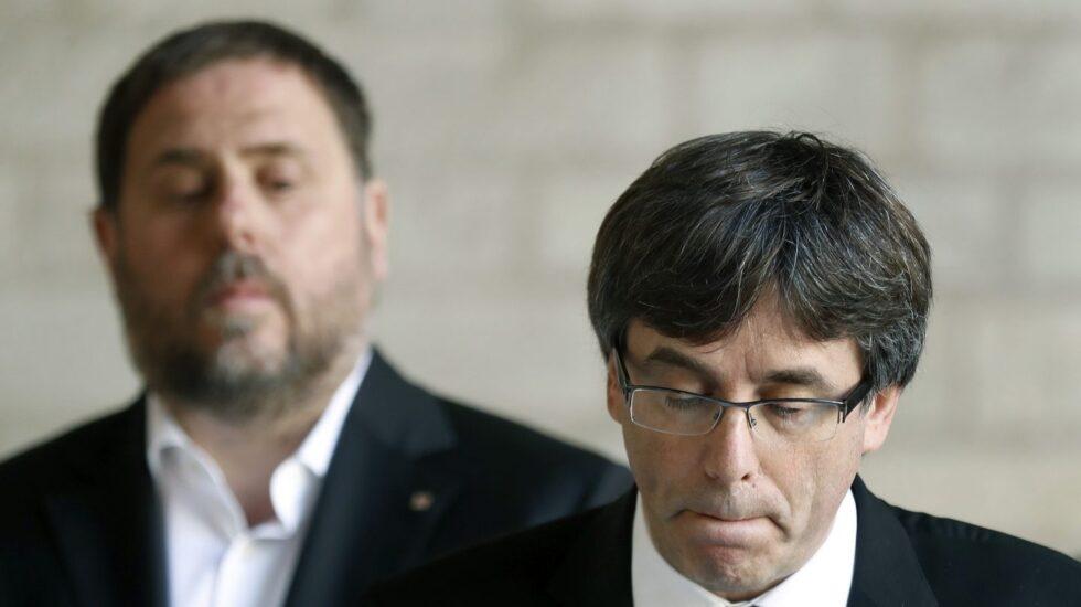 Carles Puigdemont, ante Oriol Junqueras.