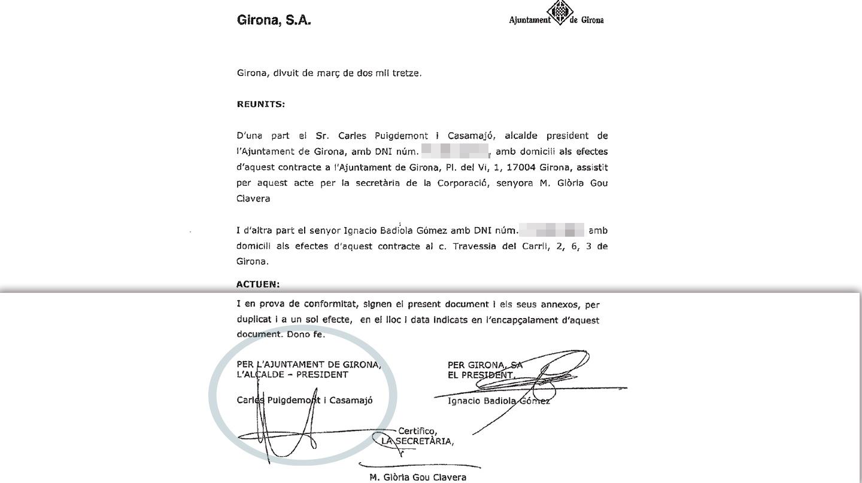 Contrato del Ayuntamiento de Girona